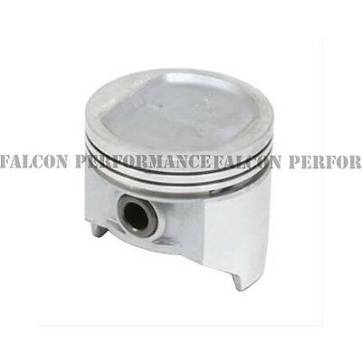 """.040/"""" Chevy 5.0//5.0L//305 Sealed Power Cast Flat Top Pistons+Cast Rings Set//Kit"""