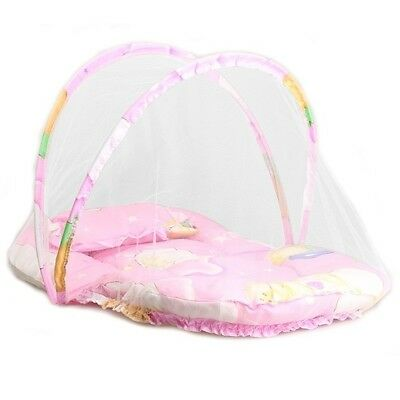 US Portable Foldable Baby Kids Infant Bed Dot Zipper Mosquito Net Tent Crib 7