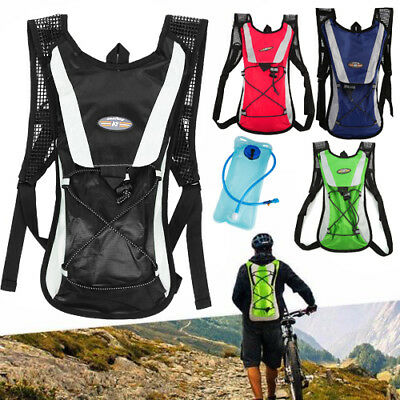 453303c51a ... Hydration Pack + 2L Water Bladder Bag Camelbak Backpack Hiking Camping  Running T 5