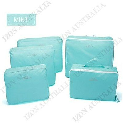 5pcs Packing Cube Pouch Suitcase Clothes Storage Bags Travel Luggage Organizer 2