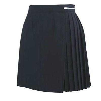 "Girls/Ladies NAVY BLUE Polyester School Gym Kilt/Skirt W27-30"" 13-18 yrs- NEW! 2"
