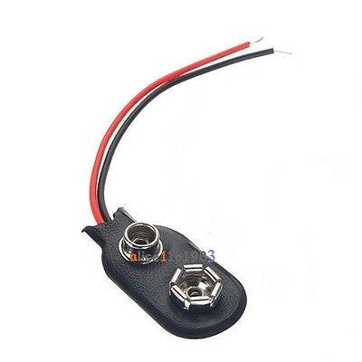 10//20//50PCS 9V PP3 9Volt battery snap on clip connector I Type Holder 10CM Lead