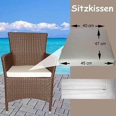 Gartenmöbel Auflagen Polster Sitzkissen Sitzpolster Kissen Rattan Lounge Stuhl 8