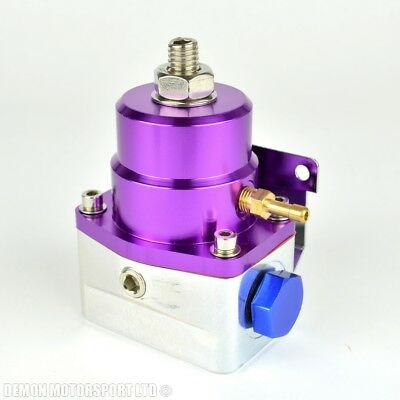 Adjustable Fuel Pressure Regulator 1:1 Rising Rate 7 bar (Purple)