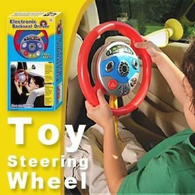 10 Of 12 Children Kids Electronic Backseat Driver Car Seat Steering Wheel Toys Game