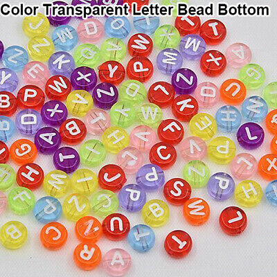 100Pcs Spacer Acrylic Beads Cube Alphabet Letter Bracelet Jewelry Making DIY HOT 8