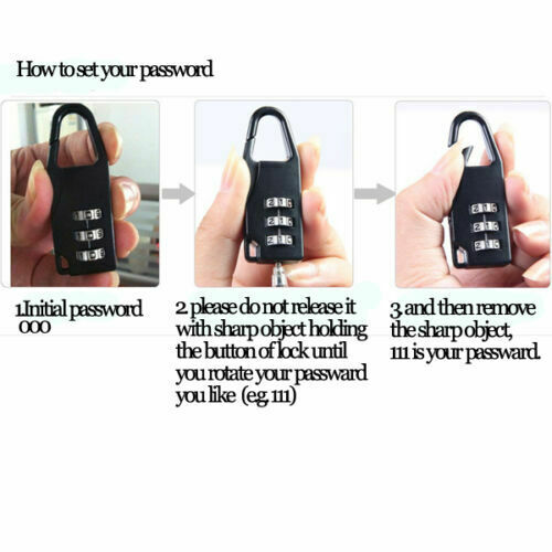 Combination Password Lock   For Travel Diary Luggage Suitcase Locker 1PC 3