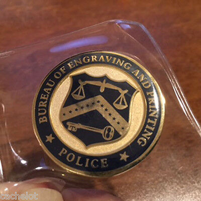 UNITED STATES TREASURY Bureau of Engraving & Printing Police Challenge Coin