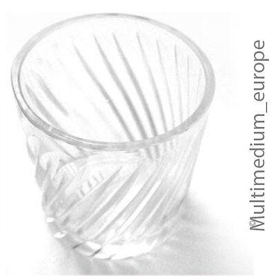 4 Stück Biedermeier um 1850 Becher Gläser geschliffen Klar Glas farblos poliert 2