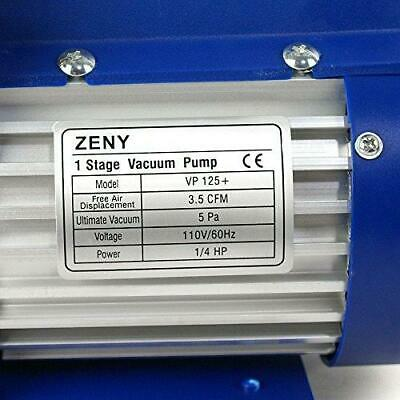 ZENY 3,5CFM Single-Stage 5 Pa Rotary Vane Economy Vacuum Pump 3 CFM 1/4HP Air 4