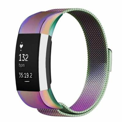 Milanese Band For FitBit Charge 2 HR Metal Stainless Magnetic Loop Band Strap 2