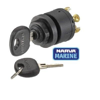 Narva 3 Position Ignition Switch with Push for Choke & 2 Keys 12v Marine 64008