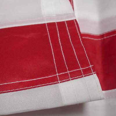8'x12' FT American Flag USA US U.S. Sewn Stripes Embroidered Stars Brass Grommet 3
