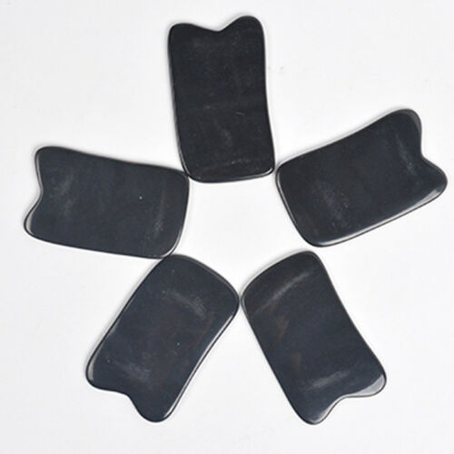 Chinese Gua Sha Body Scraping Massage Board Tool Acupuncture Buffalo Horn Black