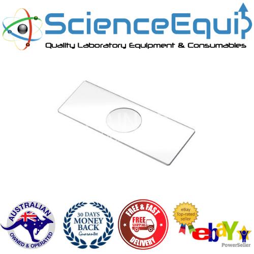 Concave Cavity Slide -Glass- Microscope Slides- Double Concave Cavity X 5 Pcs 2