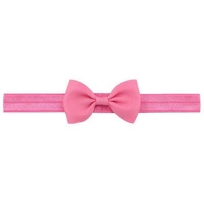 20X Baby Girls Bow Headband Hairband Soft Elastic Band Hair Accessories Pop. 8