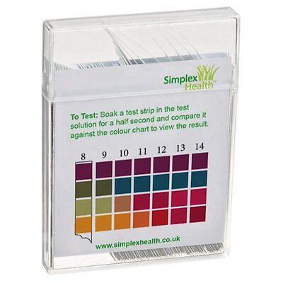 Water Alkaline pH Test Strips 100 Test Strips Check Water pH 0 - 14 2