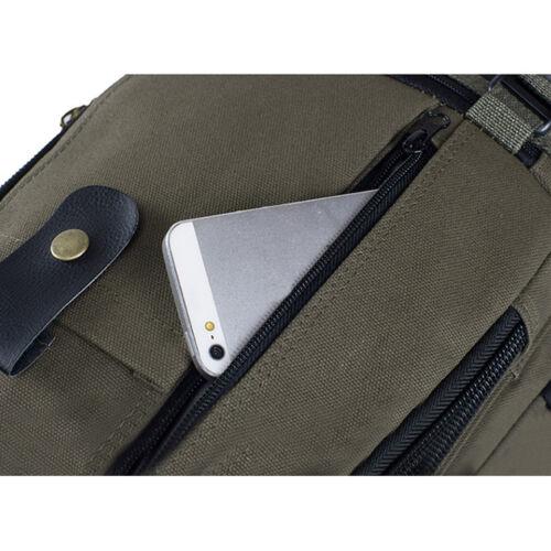 Men Vintage Canvas Backpack Rucksack Travel Hiking Schoolbag Laptop Camping Bag 11