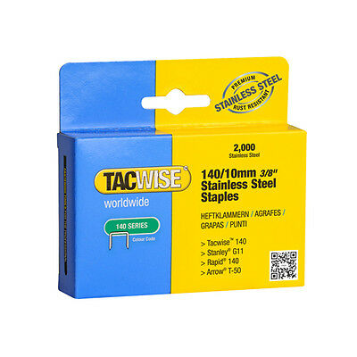 Tacwise 140 Type Stainless Steel Staples X 2 Boxes 3