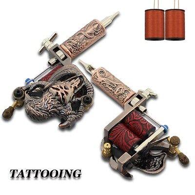 Tätowierung Komplett Tattoo Kit Starter Set 4 Tattoomaschine Koffer Netzteil D03