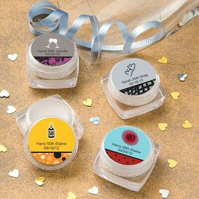 40-250 Personalized Round Ball Lip Balm Wedding Shower Party Favors  15141ST Vanilla Flavored