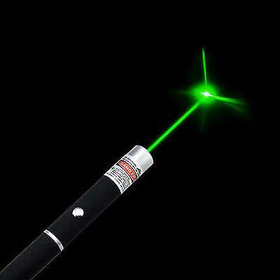 Military High Power 5mW 532nm Green Laser Pointer Pen Visible Beam Light Lazer