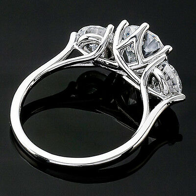1 CT ROUND CUT DIAMOND G/VS2 SOLITAIRE ENGAGEMENT RING 14k WHITE GOLD 3