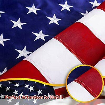 8'x12' ft American Flag US USA | EMBROIDERED Stars, Sewn Stripes, Brass Grommets 5
