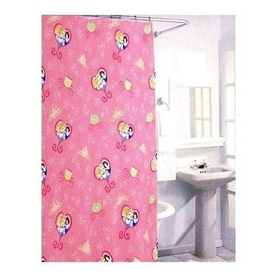 Disney Princess Fabric Shower Curtain Set W 12 Hooks 72 X NEW 2