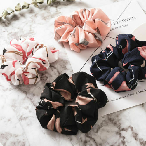 Women Bow Knot Hair Rope Ring Tie Scrunchie Ponytail Holder Accessory Adjustable 3