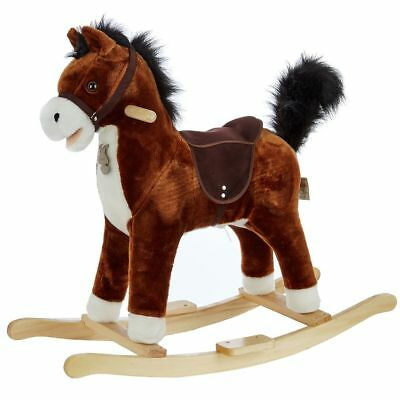 Histoire D'ours Brown ROCKING HORSE with Music and Sounds rrp £86 - New