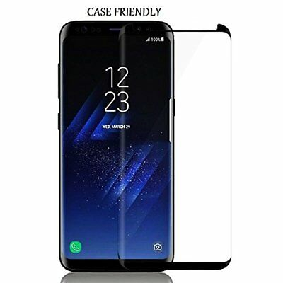 S8 Full Curved 5D Tempered Glass Screen Protector For Samsung Galaxy S8 - Black 3