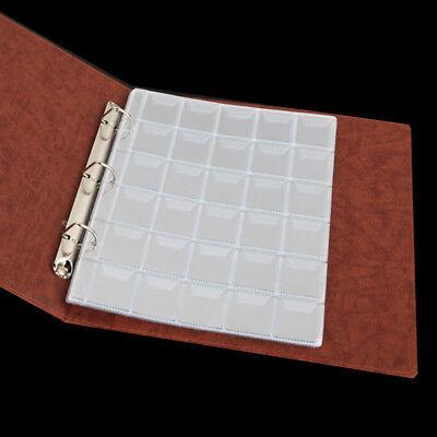 10 Fogli 30 Tasche Porta Monete Di Plastica Contenitore Di Raccolta Di Denaro 2