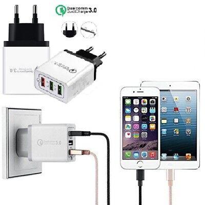 Universal 3 Port Fast Quick Charge QC3.0 USB Hub Wall Charger Adapter EU US Plug 2