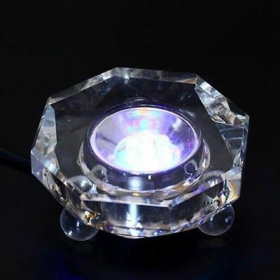 7 LED Colored lights Illuminated Crystal Display Stand Base w/ Power Adapter