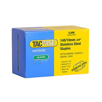 Tacwise 140 Type Stainless Steel Staples X 2 Boxes 5