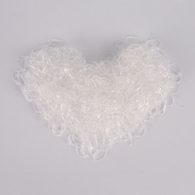 1000x Transparent Poly Rubber Braiding Plaits Hair Elastic Bands Small Clear DSU