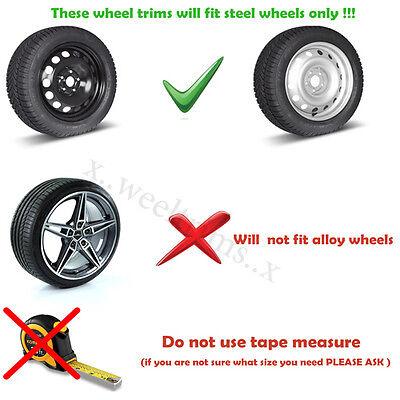 """Set of  4x15"""" wheel trims to fit  Vw ,Golf,Polo,Touran,"""