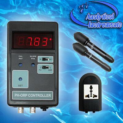 2-Fach Regelgereät (Redox+Ph) Ozon Ozonisator Aquarium Pool Süss-/salzwasser P11 4