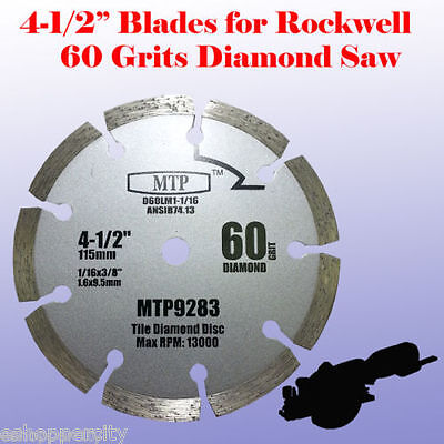 4x 4-1/2 inch Metal Wood Tile Saw Blade for ROCKWELL RK3441K WORX RW9281 Compact