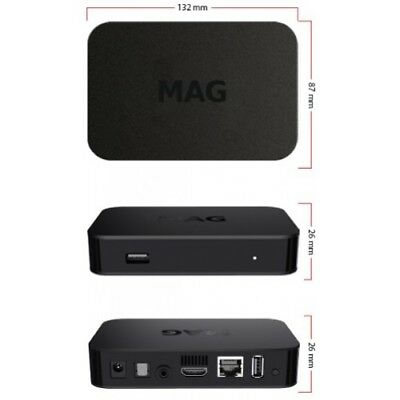 NEW 2019 MAG322W1 IPTV SET-TOP BOX INFOMIR build-in wifi update for MAG 254 256 4