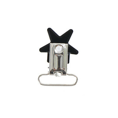5Pcs Baby Star Metal Suspenders Clips Soothers Holder Dummy Pacifier Clip RASK 5