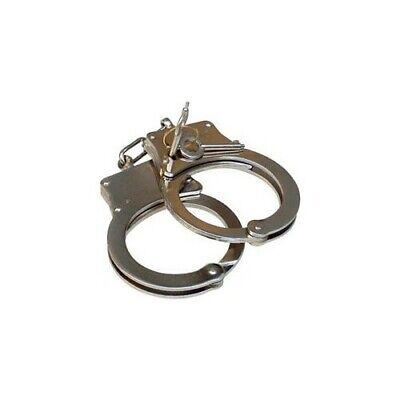 Police Handcuffs DOUBLE LOCK Professional  STEEL Hand Cuffs / 2 Keys 3