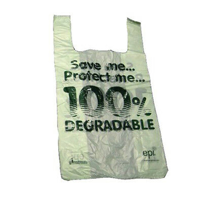 "100 x Large Biodegradable Carrier Bags! | 11 x 17 x 21"" | Oxo/Shop/Plastic/Eco 2"