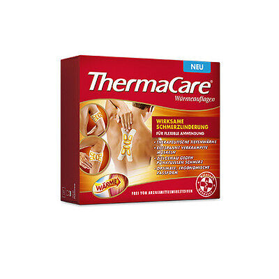 Thermacare Wärmepflaster Rücken Nacken Flexible Anwendung Regelschmerzen ANGEBOT