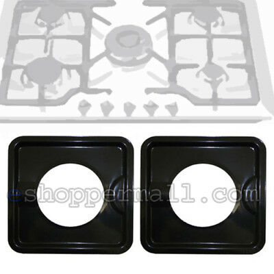 Heavy Duty Black Steel Square Reusable Drip Pan Gas Burner Bib Liner Covers Bn24