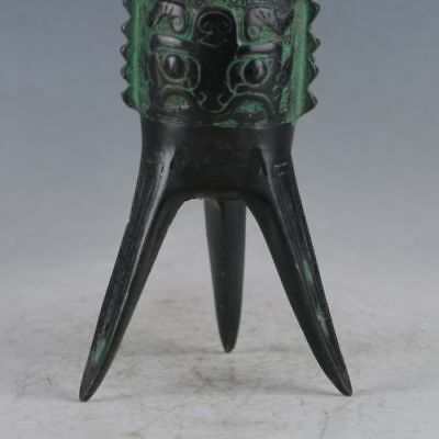 Collectibles Chinese Bronze Handwork Court Wine Cup Gift 4