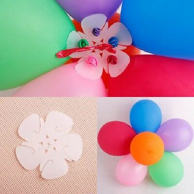 1-25 pcs Latex Balloon Arch Stand Connectors Clip Flower Shape Sealed Birthday