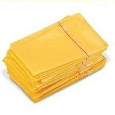 100 x Clinical Waste Bags - Self Sealing - Yellow Disposable 2