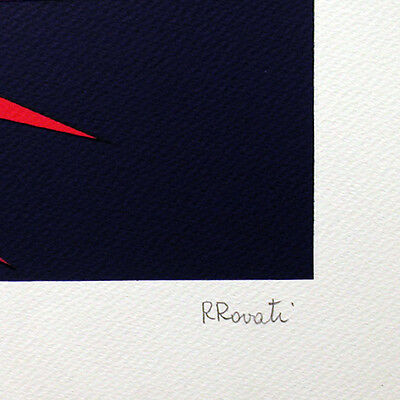 "ROLANDO ROVATI- ""Pesce""  - Serigrafia cm 50x70 5"